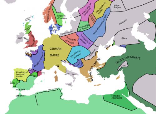 L'Europe en 1092