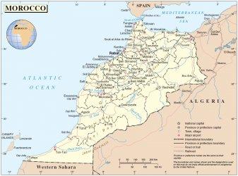 Casablanca, sur la côte ouest du Maroc